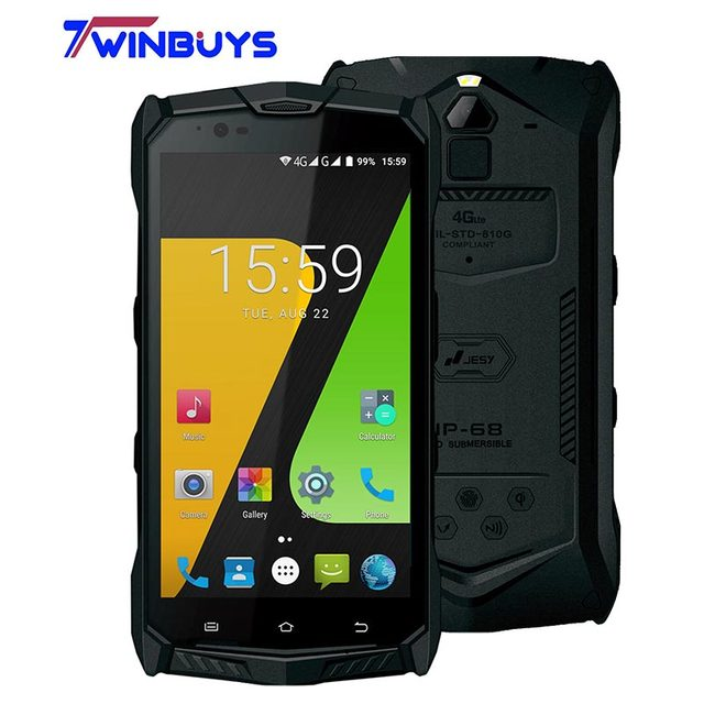 "JESY J9S Waterproof IP68 Mobile Phone 6150mAh 5.5"" 4GB 64GB MT6755 Octa Core android 7.0 16MP fingerprint NFC Ruggered Cellphone"