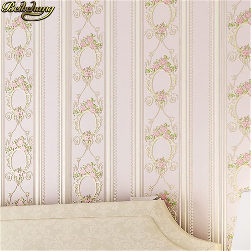 beibehang flooring Simple vertical stripes non-woven wallpaper classic wall paper roll wallcovering floral papel de parede 3Dbeibehang flooring Simple vertical stripes non-woven wallpaper classic wall paper roll wallcovering floral papel de parede 3D