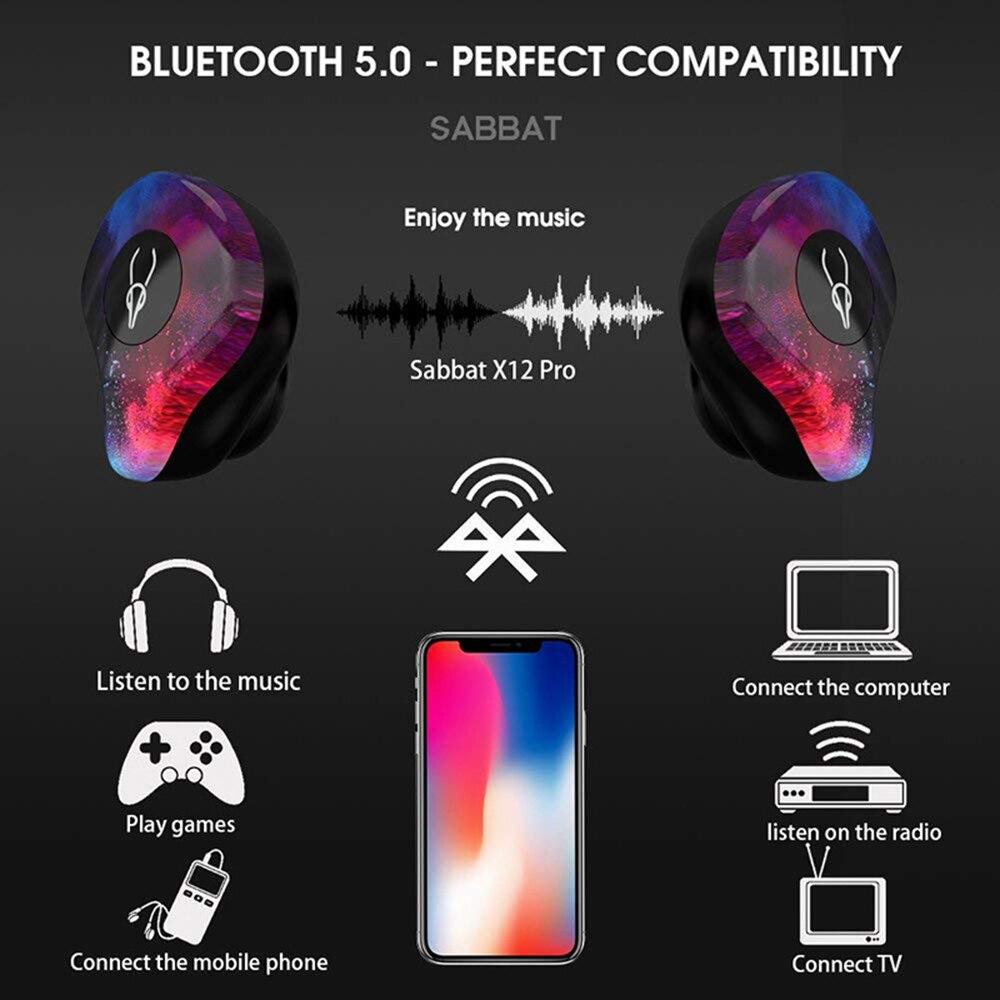 Sabbat X12 Pro bluetooth sans fil Casque V5.0 écouteurs Jumeaux Écouteurs Avec boîte De Charge Écouteurs Sans Fil écouteurs bluetooth - 4