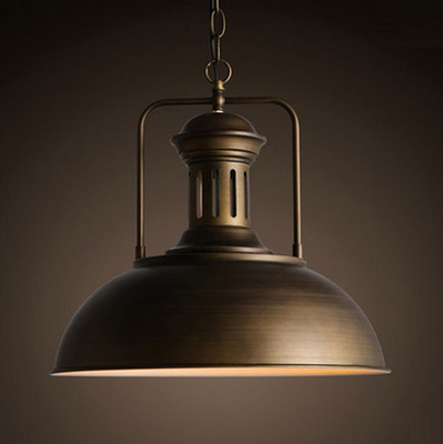 Dome pendant light black brown loft vintage industrial style dome pendant light black brown loft vintage industrial style billiards cafe wrought iron restaurant bar light in pendant lights from lights lighting on aloadofball Choice Image