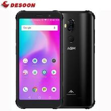 AGM-teléfono inteligente X3 resistente al agua IP68, Smartphone de 5,99 pulgadas, 4100mAh, SDM845, huella dactilar, 6GB + 64GB, altavoz de caja Dual, NFC