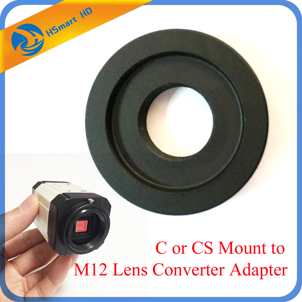 C or CS Mount to M12 Lens Converter Adapter Ring CS Camera to M12 Board Lens For AHD SONY CCD TVI CVI Box CameraCamera Support aomway universal cmos ccd m12 camera fixed mount for fpv