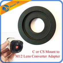 C veya CS dağı M12 Lens dönüştürücü adaptör halkası CS kamera M12 kurulu Lens AHD SONY CCD TVI CVI kutusu CameraCamera desteği
