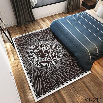 Salon table basse tapis peluche chambre complet chevet couverture rectangulaire simple moderne tapis haut de gamme épais corail polaire tapis - 5