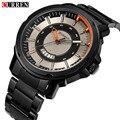 CURREN Mens Relojes de Primeras Marcas de Lujo Automático Fecha de Acero Inoxidable de Negocios Reloj de Pulsera Deporte Militar Reloj Relogio masculino