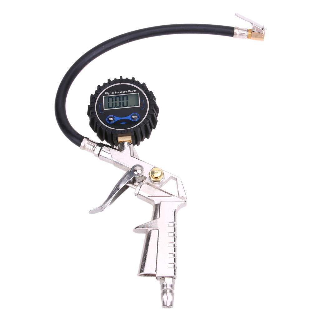Digital Truck Car Tire Inflation ToolsPressure Gauge LCD Display Dial Meter Vehicle Tester Tyre  Gun Monitoring  High Precision  цены