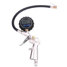 Camión Neumático De Coche Manómetro Digital LCD Display Dial Probador Del Metro Del Vehículo Herramienta de Seguimiento de la Pistola de Inflado de Los Neumáticos de Alta Precisión