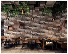 beibehang Three-dimensional retro brick pattern fashion 3d wallpaper industrial wind restaurant clothing store wall paper behang цена 2017