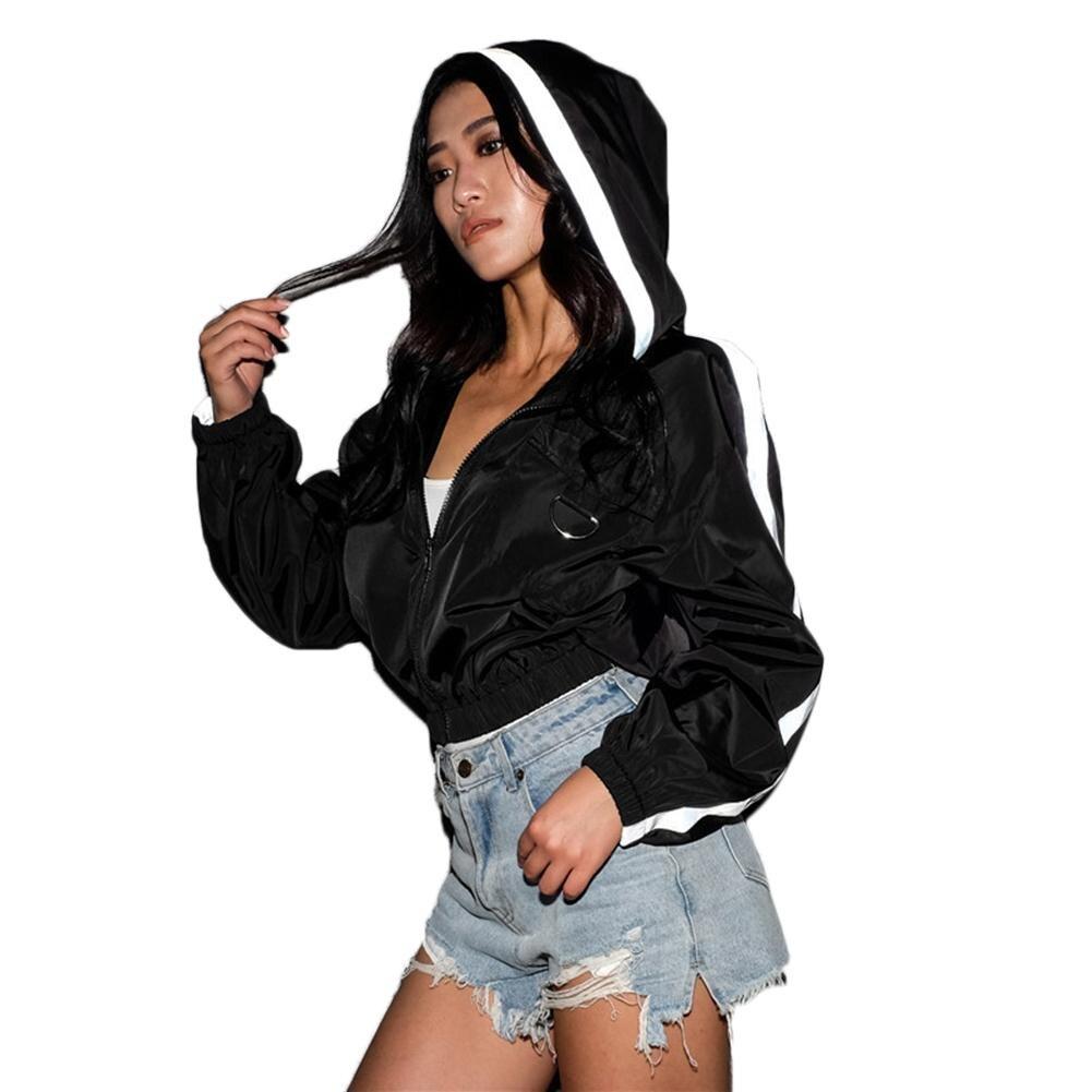 Basic     Jacket   Women Hooded Long Sleeves Zipper Pockets Women Winter Coat Casual Autumn Windbreaker   Jacket   Coat 2018