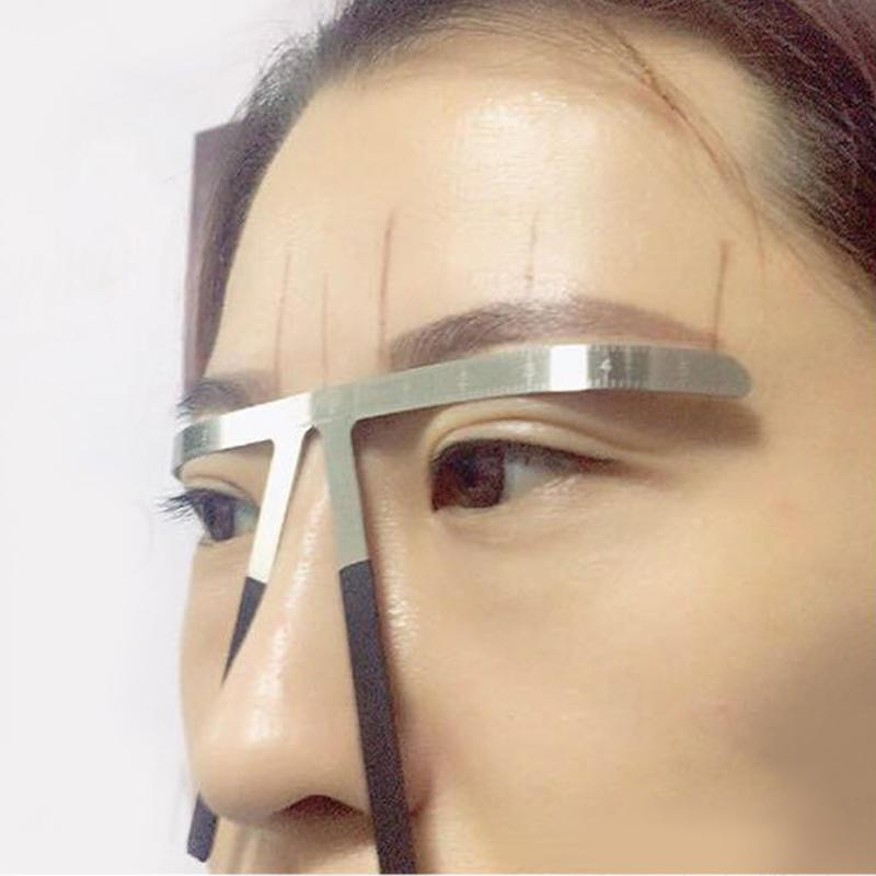 Eyebrow Tattoo Stencils Microblading Reusable Makeup Brow Measure Eyebrow Guide Ruler Permanent Tools