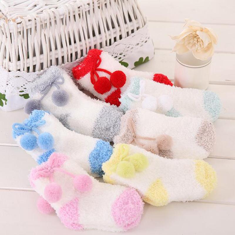 invierno del beb recin nacido calcetines calcetines de beb de invierno gruesa caliente infantil de navidad