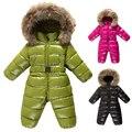 Macacão de Bebê inverno Snowwear Criança Conjuntos de Roupas de Bebê Natal Roupas Meninos Casaco De Neve para As Meninas Do Bebê Roupas de Bebê Recém-nascido