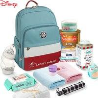 Disney Mummy Bag Baby Handbag Bottle Bag Fashion Insulation Bags Multifunction Large Capacity Double Shoulder Travel Backpack