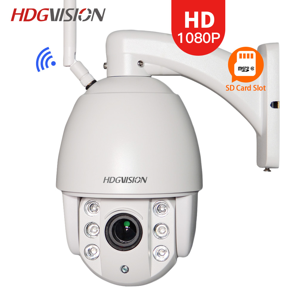 HDGVISION 1080P IP Camera Mini 4'' 4X Optical Zoom Dome Camera IP(IMX322) Outdoor Waterproof 5.1-51MM Lens ONVIF CCTV Camera