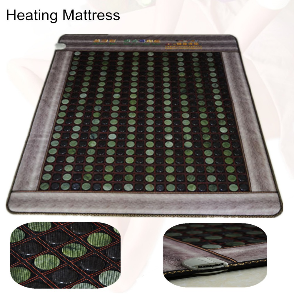 Heating jade Cushion Natural heating mattress Tourmaline Physical Therapy Mat Heated Jade Mattress with Free Gift eye cover best selling korea natural jade heated cushion tourmaline health care germanium electric heating cushion physical therapy mat