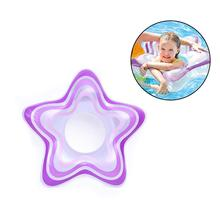 New Portable Inflatable Star Shape Swimming Float Ring Toys Water Sports Swimming Pool Accessories For Baby 3-6 Years Old