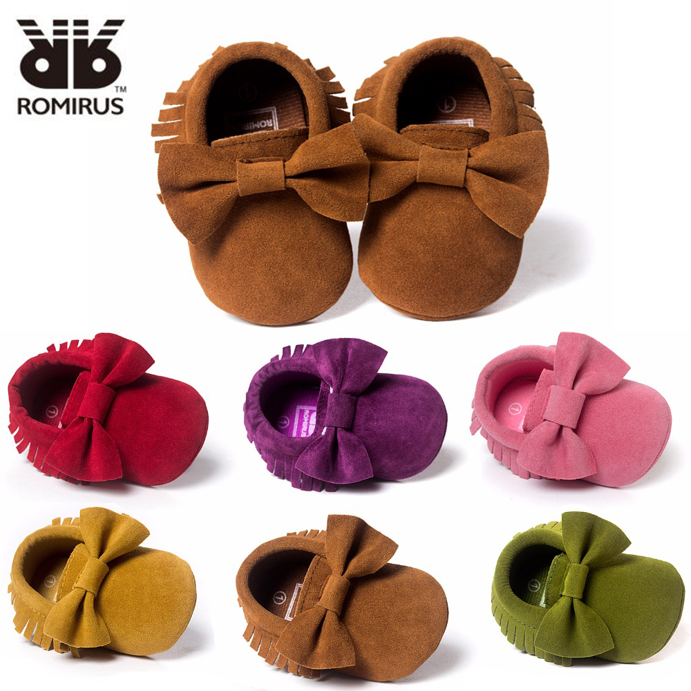 Hot-Sale-Baby-Shoes-PU-leather-Solid-tassel-Frosted-Butterfly-knot-Newborns-Moccasins-toddler-infant-Girl-Boy-First-Walker-5