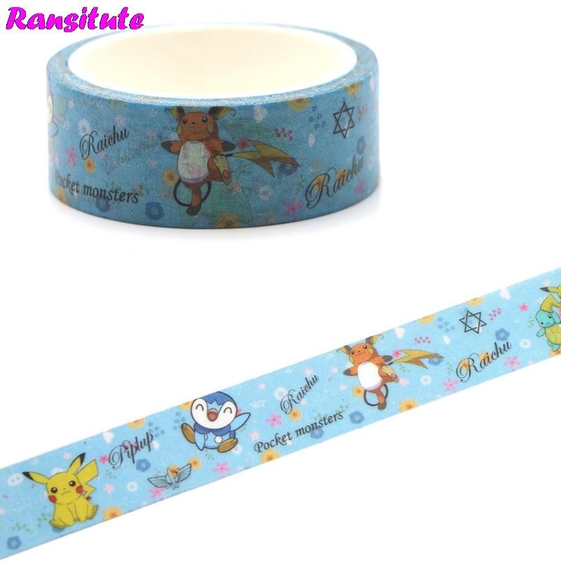 Ransitute R456 Cartoon Elf Color Washi Paper Tape Manual DIY Decorative Paper Tape Color Tape Book Hand Sticker