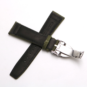 Image 2 - Rolamy Watch Band 20 21 22mm  Nylon Fabric Leather For Tudor Omega IWC Rolex Replacement Wrist  Loops Strap Deployment Clasp