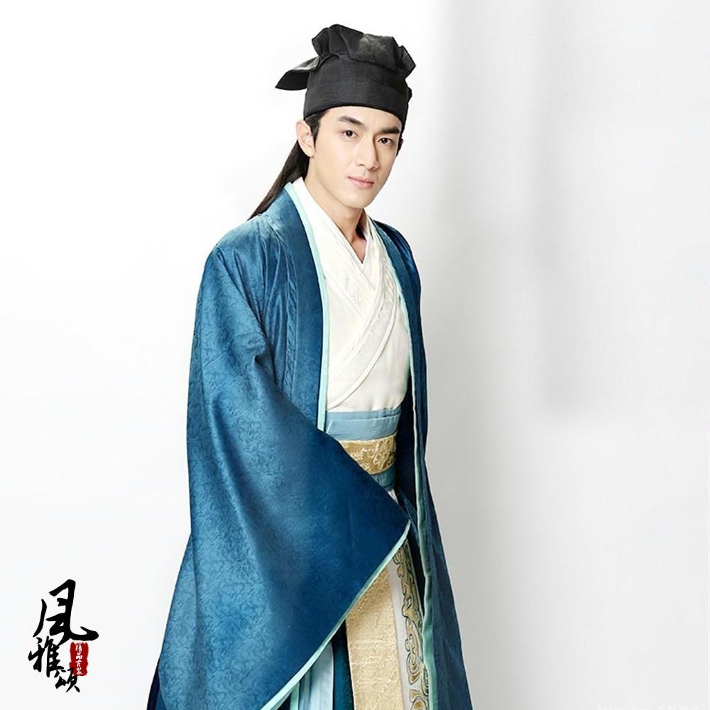 Lin GengXin Swordman or Scholar Hanfu Male Costume for TV Play Chinese Hero-Zhao ZiLong of Three Kingdoms Period