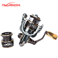 Tsurinoya Jaguar 1000 2000 3000 Spinning Fishing Reel + Spare Spool Lure Wheel Moulinet Peche Para Pesca Saltwater Fishing Reel