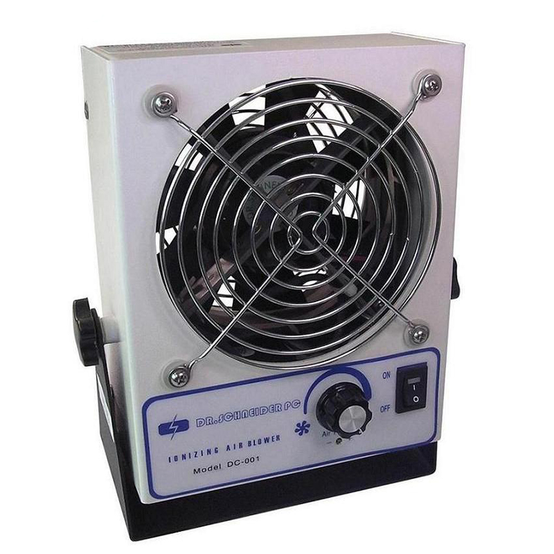 DC-001 Static Elimination Ion Blower Anti Static Small Electric Ionizer Fan Ionizing Cool Air Blower / ESD Air Blower Fan sl 001 pc esd ionizer fan esd ionizing air blower