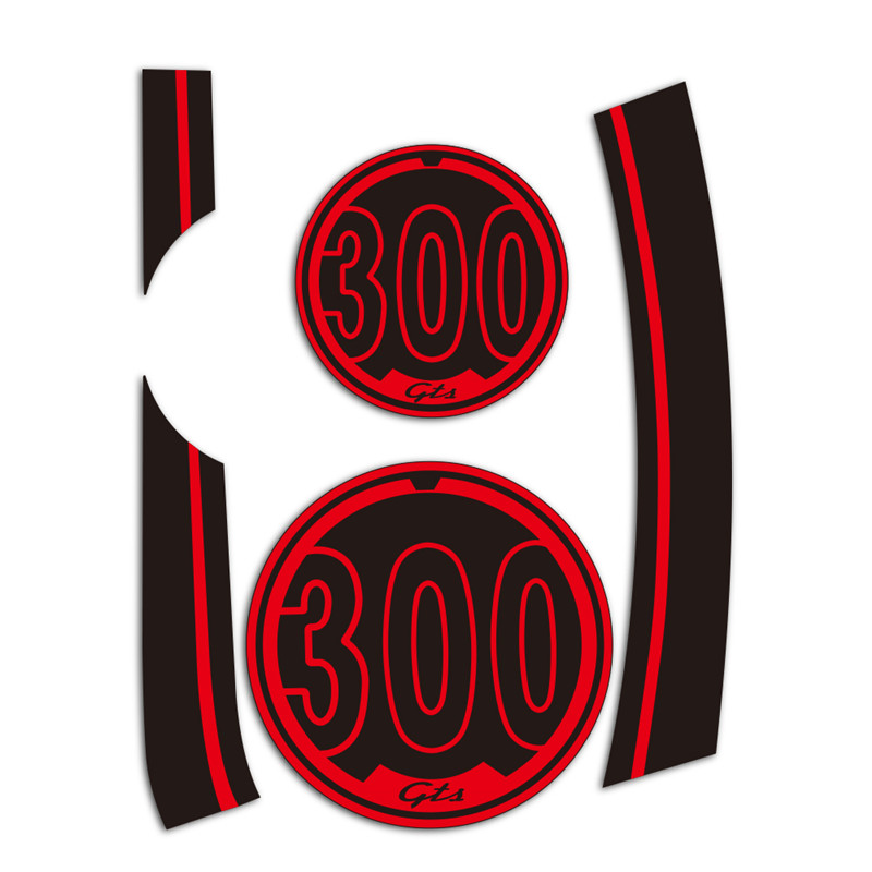 PRO-KODASKIN Motorcycle Wheel Decals 12rim Stickers Set GTS300