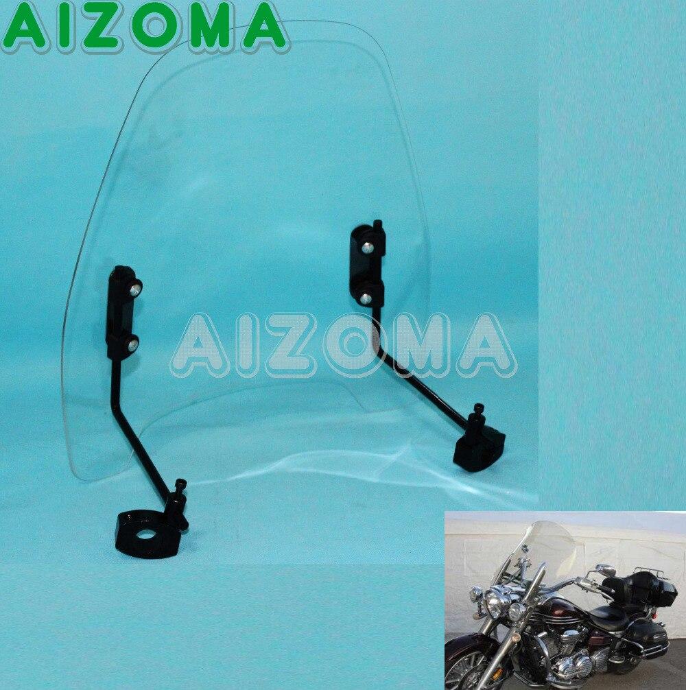 Déflecteur de vent Standard universel de pare-brise Transparent de moto pour le pare-brise de croiseur de Yamaha Kawasaki de Harley Honda Suzuki