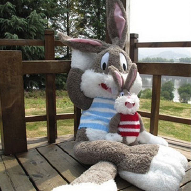 Fancytrader Cute Large Plush Rabbit Stuffed Cartoon Bugs Bunny Toy Big Size 170cm 67inches Pink Red Blue Great Baby Gift  1pc stuffed animal 44 cm plush standing cow toy simulation dairy cattle doll great gift w501