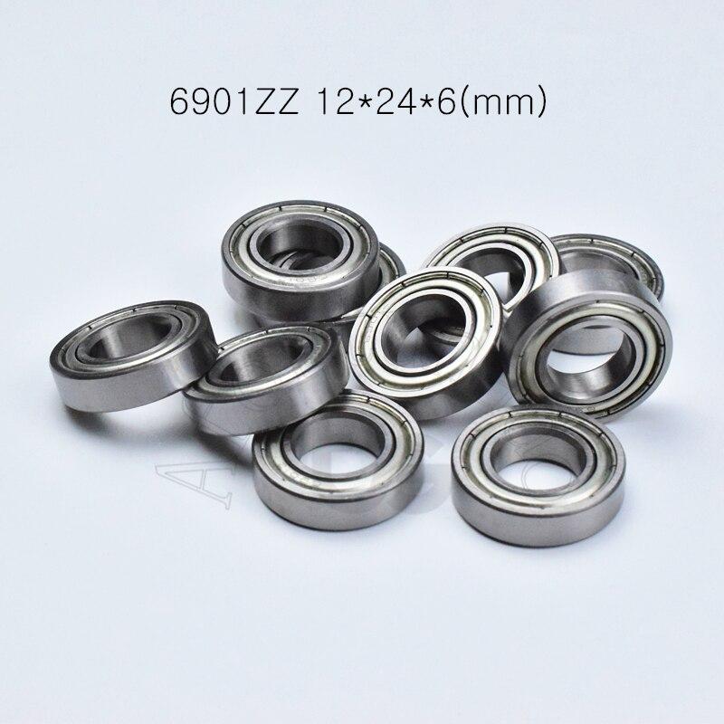 6901ZZ 12*24*6(mm)  Free Shipping Bearings Metal Sealed Bearing Thin Wall Bearing 6901 6901Z 6901ZZ Chrome Steel Bearing