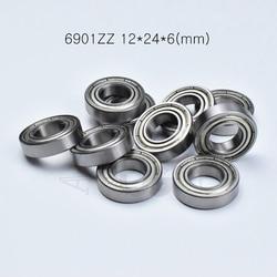 6901ZZ 12*24*6 (mm) o envio gratuito de rolamentos De Metal selado rolamento de parede Fina rolamento 6901 6901Z 6901ZZ rolamento de aço cromado