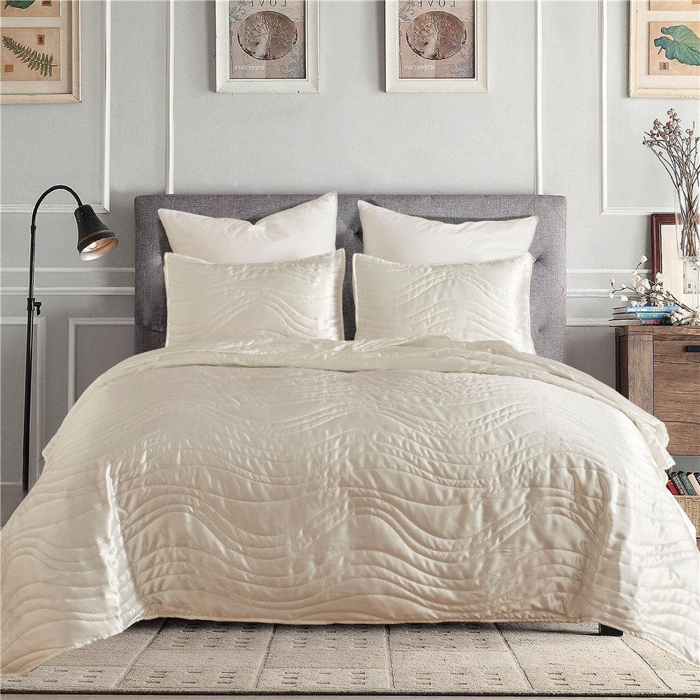 Raya de lujo 200TC Conjunto de Edredón Edredón Cubierta Ropa de cama de calidad de hotel Tamaño King Blanco