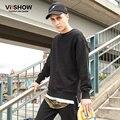 VIISHOW Marcas Streetwear Ropa de Algodón Para Hombre Sudaderas con capucha Y Sudaderas Hombre Capucha Falso de Dos Piezas Hem Chándal de Los Hombres