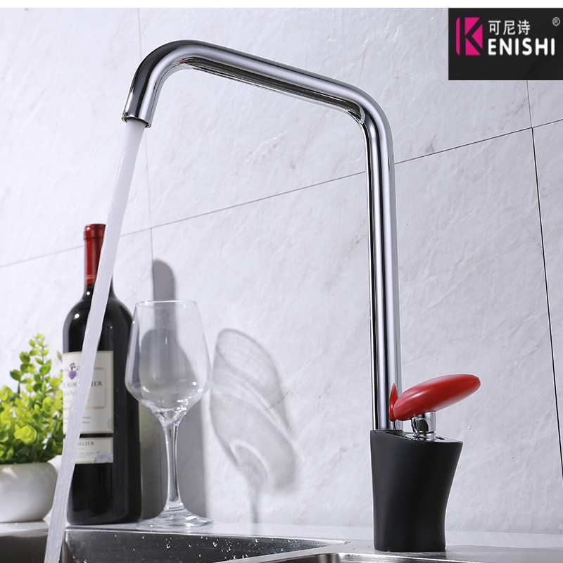 KENISHI New Kitchen Faucet Surface Finishing Zinc Alloy Spray Paint Colorful Brass Main Material Kitchens Faucets Single Handle