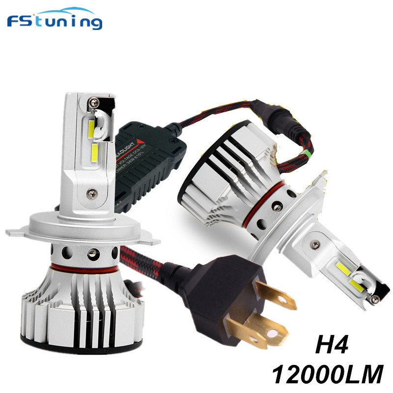 FSTUNING F2 12v 12000lm H4 H13 9004 hb1 9007 HB5 led headlight 6000k white car fog light headlight H4 9003 HB2 9008 H13 headlamp