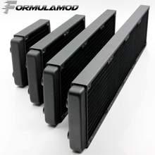 FormulaMod 120/240/360/480mm kupfer computer wasser austragsflüssigkeit wärmetauscher gewinde gewinde kühler für 12 cm fan