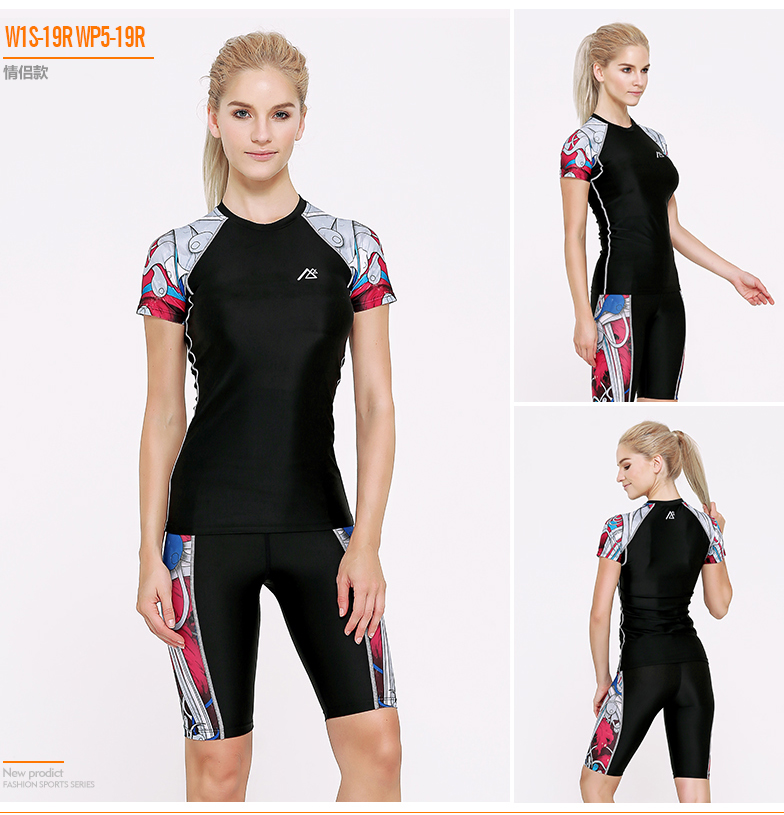ФОТО 2016 Life on Track Running Sets Comfortable 3D Digital Printing Breathable Quick-drying Tight-fitting Suit Female Yoga Sets