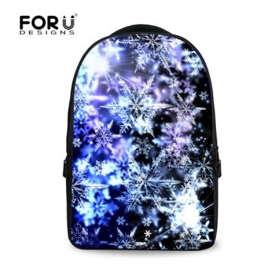 Brand Unique Travel Backpack Snowflower Print Laptop Bagpack 15 6 inch Mochila Computer Backpack Teenager Girls