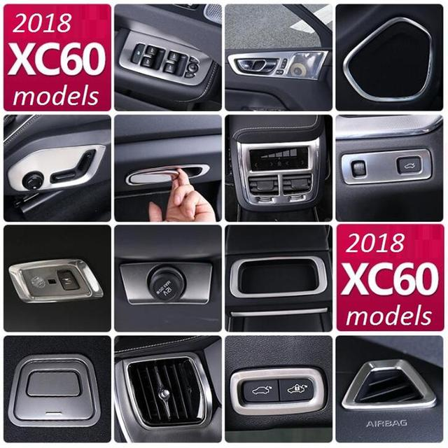 new for volvo xc60 2018 models interior modifications decorative car control air outlet paste armrest box stickers car sticker