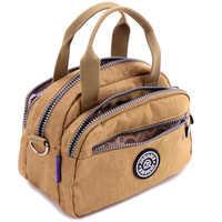 JINQIAOER Women Bags Waterproof Nylon Handbag Messenger Shoulder Bag Female Tote Girls Casual Crossbody Bags For Women Bolsa