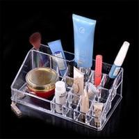 Transparent Acrylic Cosmetics Storage Box Lipstick Housewares Combination Slot Crystal Storage Box Free Shipping ES416