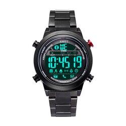 AMST 2019 inteligentny zegarek dla mężczyzn nowy projektant kreatywny data z Bluetooth Remote Camera kwarcowe zegarki na rękę zegarki mężczyźni zegar
