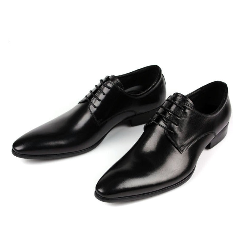 Luxury Brand Classic Man Pointed Toe Dress Shoes Mens Genuine Leather Black Wedding Shoes Oxford Formal Shoes Big Size JMH-B0045 цена