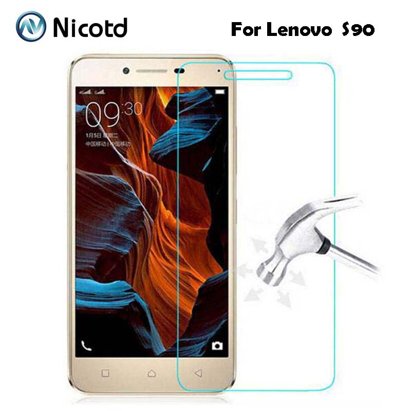 0.3mm Tempered Glass Film for Lenovo S90 S 90 9H 2.5D Arc Edge High Transparent Screen Protector with Clean Tools