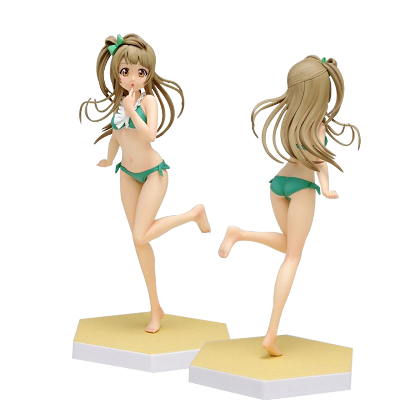 Love Live Sexy Girl Eli Ayase Umi Sonoda Hanayo Koizumi bikini swimsuit Anime PVC Action Figure Toys Collection Model 17cm 5