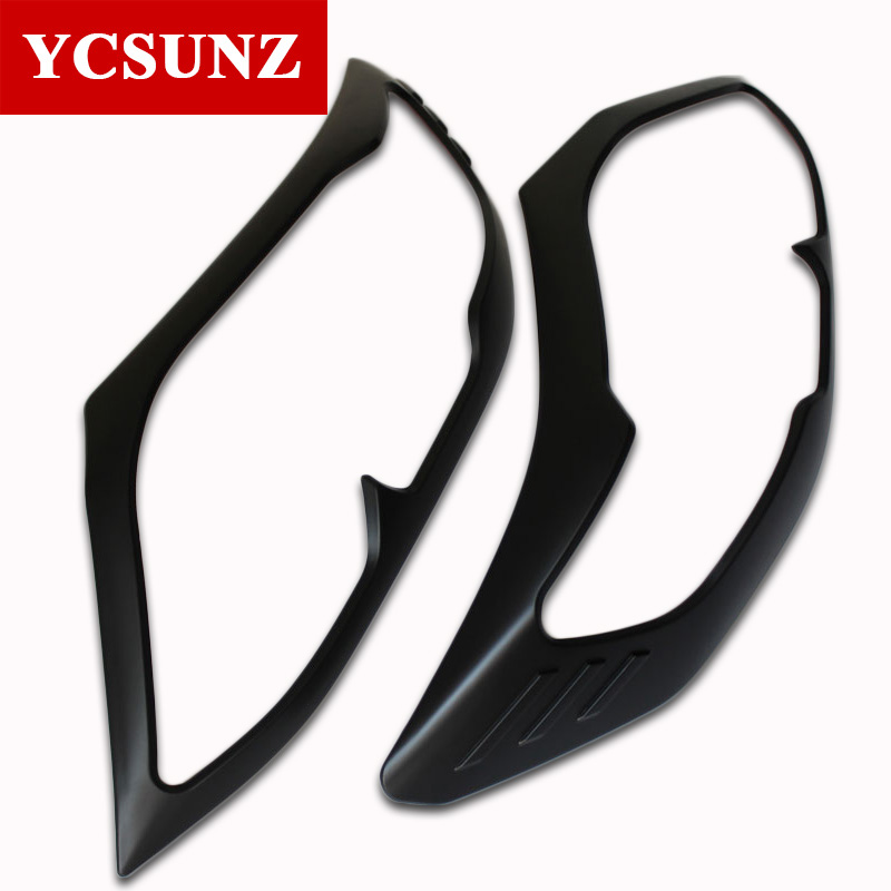 Car Accessories Black Headlight Cover Trim For Toyota Fortuner Hilux Sw4 2012 2013 2014Car Accessories Black Headlight Cover Trim For Toyota Fortuner Hilux Sw4 2012 2013 2014
