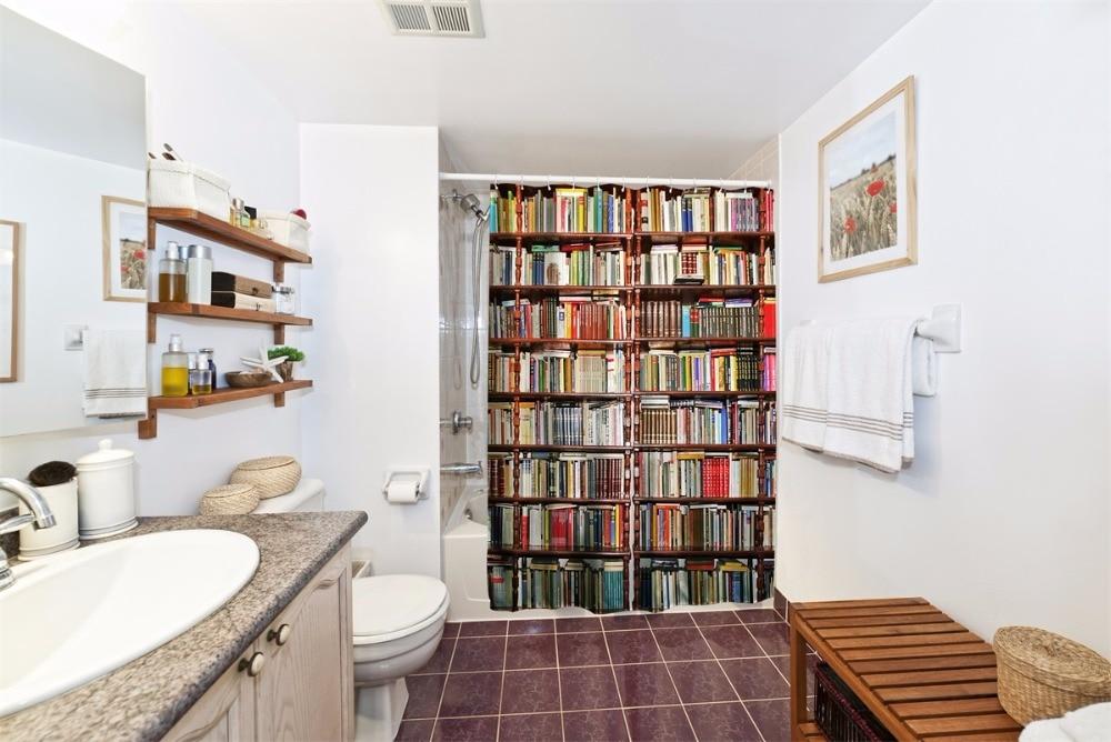 Boekenkast 3d douchegordijnen polyester stof badkamer bad gordijnen