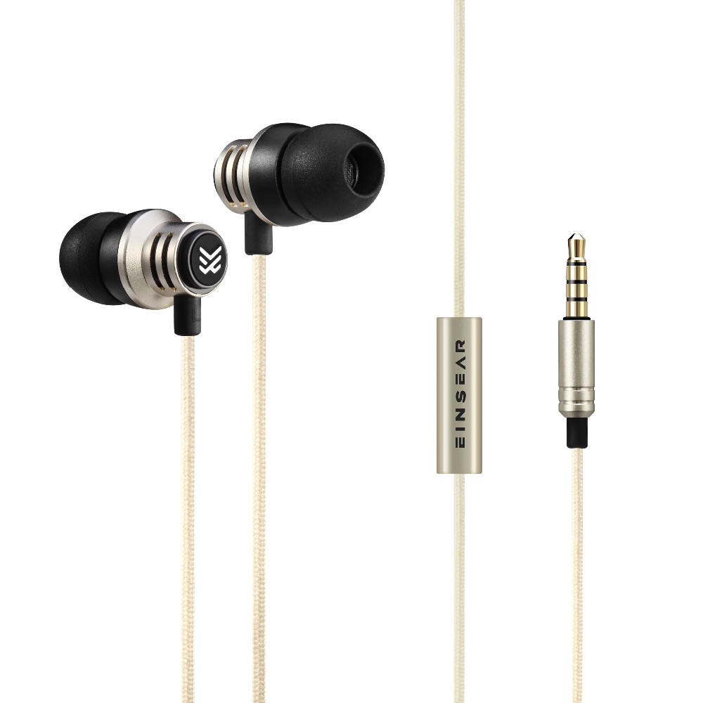 Original EINSEAR T2 In Ear Earphone Dynamic 3.5mm Stereo Headset Earbuds Aerospace Aluminum Alloy Earphones