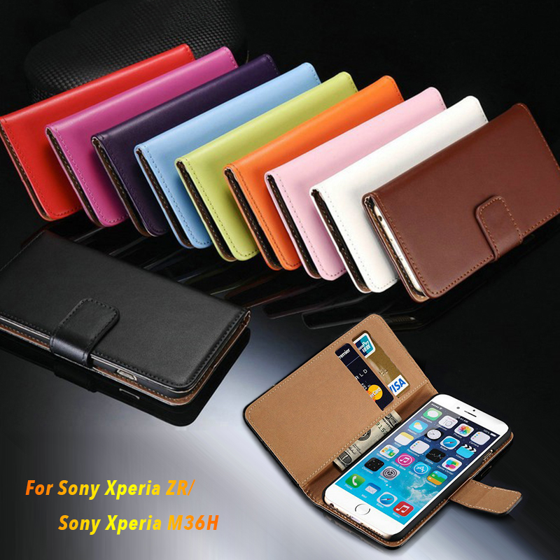 huge discount 21486 8f968 US $4.99 |For Sony Xperia ZR Business Leather Case For Sony Xperia M36H  C5502 C5503 Flip Case Wallet Case Card Slot Case Tpu Back Cover-in Wallet  ...