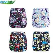 AnAnBaby Sugar Skull детская Пеленка из моющейся ткани, водонепроницаемые детские подгузники, многоразовые тканевые подгузники для детей 0-2 лет, 3-13 кг, серия G